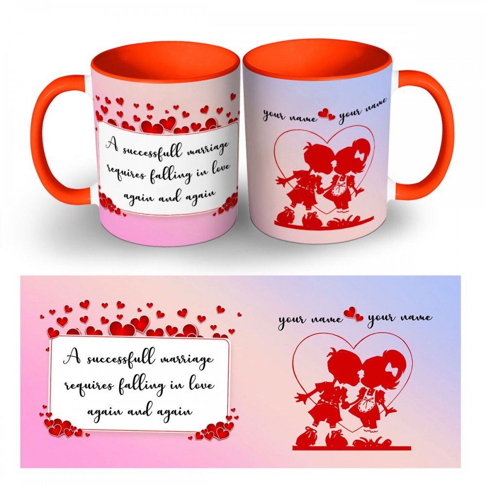 Personalised Marriage Wishes Quoted Mug