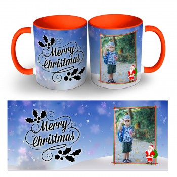 Personalised Merry Christmas Photo Mug