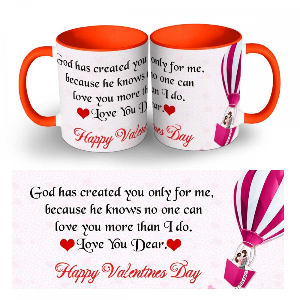 Happy Valentines Day Quote Mug