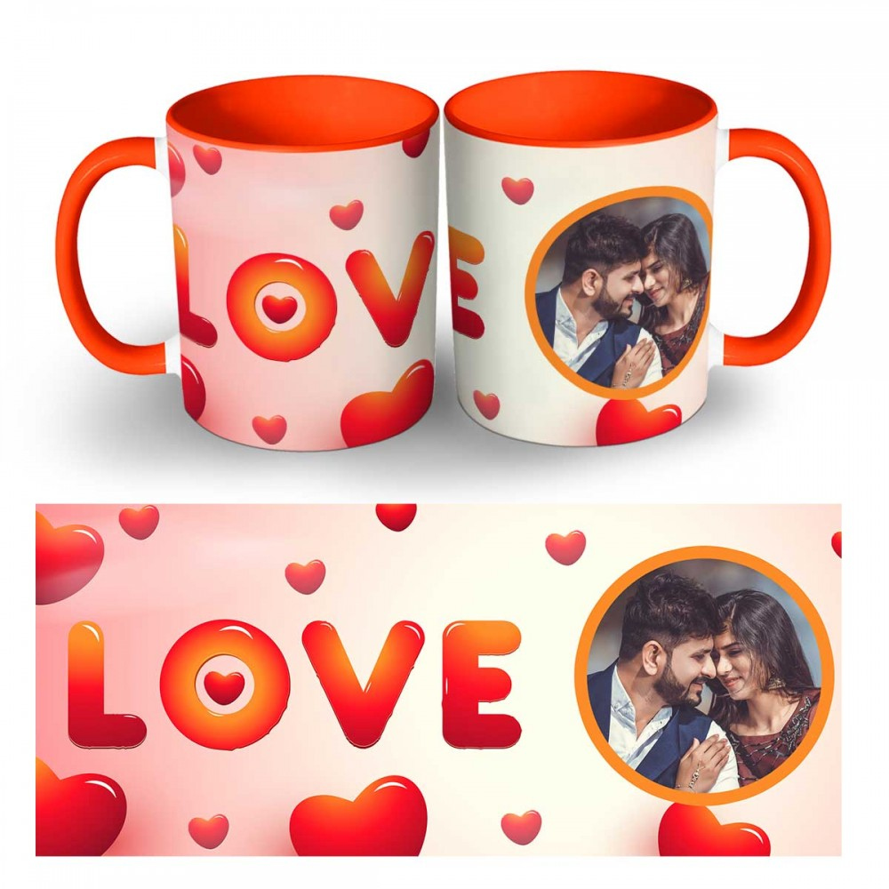 Love Text With Photo Mug