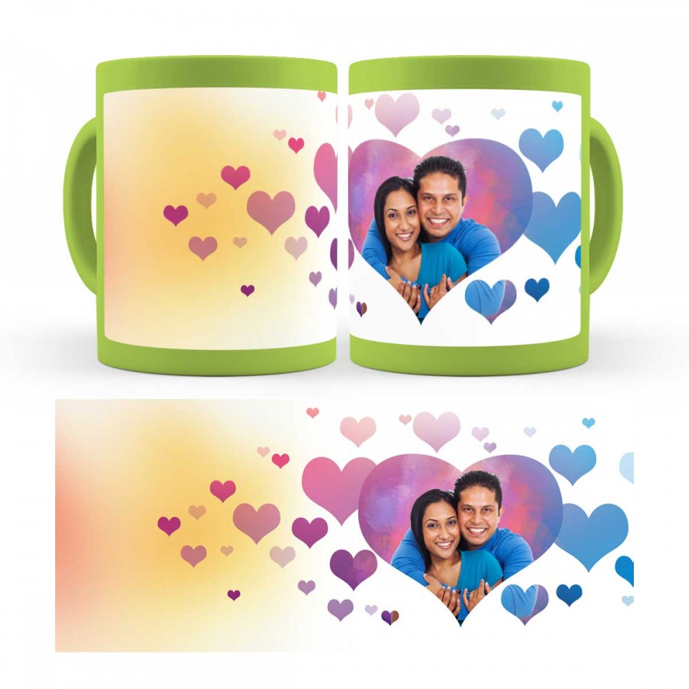 personalised photo patch mug