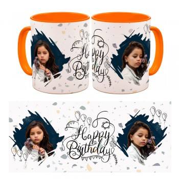 Personalised Happy birthday Quoted Photo Mug