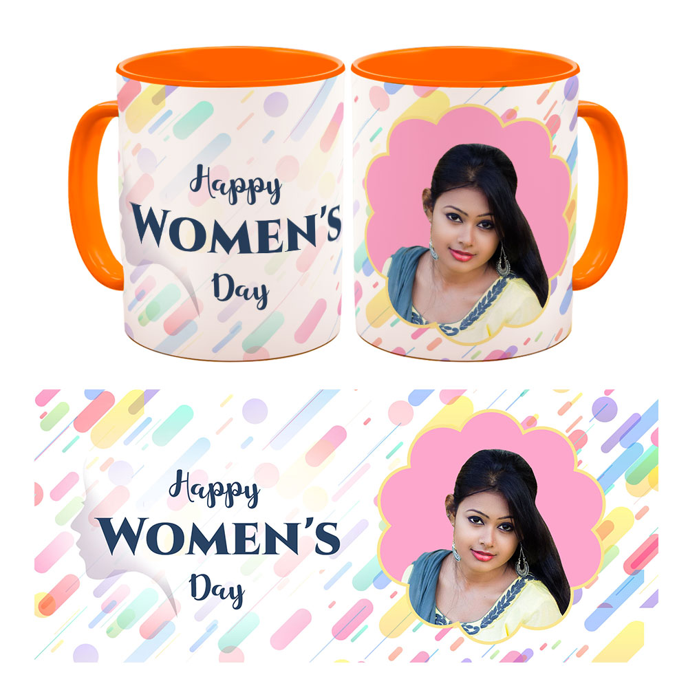 Personalised Happy Womens Day Quoted Photo Mug