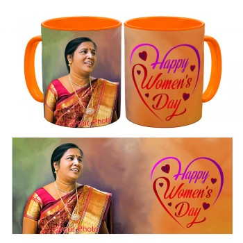 Personalised Happy Womens Day Photo Mug