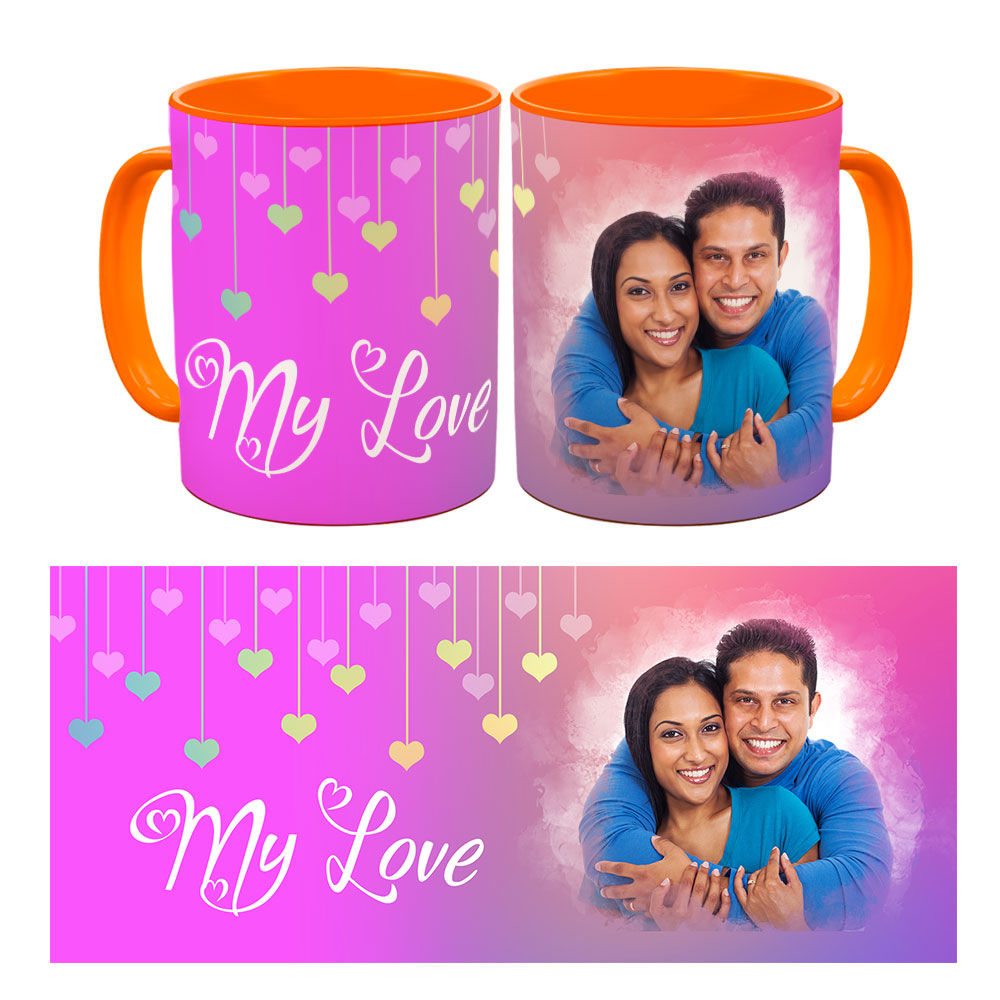 Personalised My Love Quoted Photo Mug