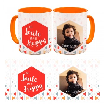 Photo Mug - Just Smile And Be Happy