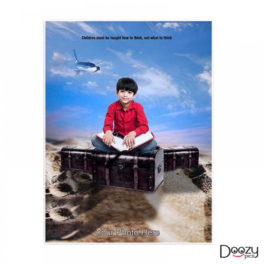 Kid With Aeroplane Print Poster