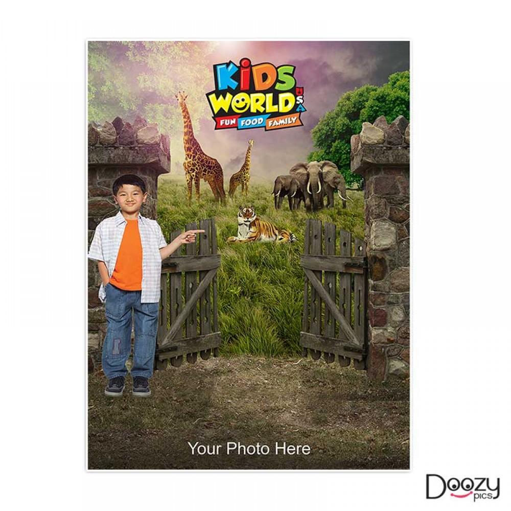 Kids World Print Poster