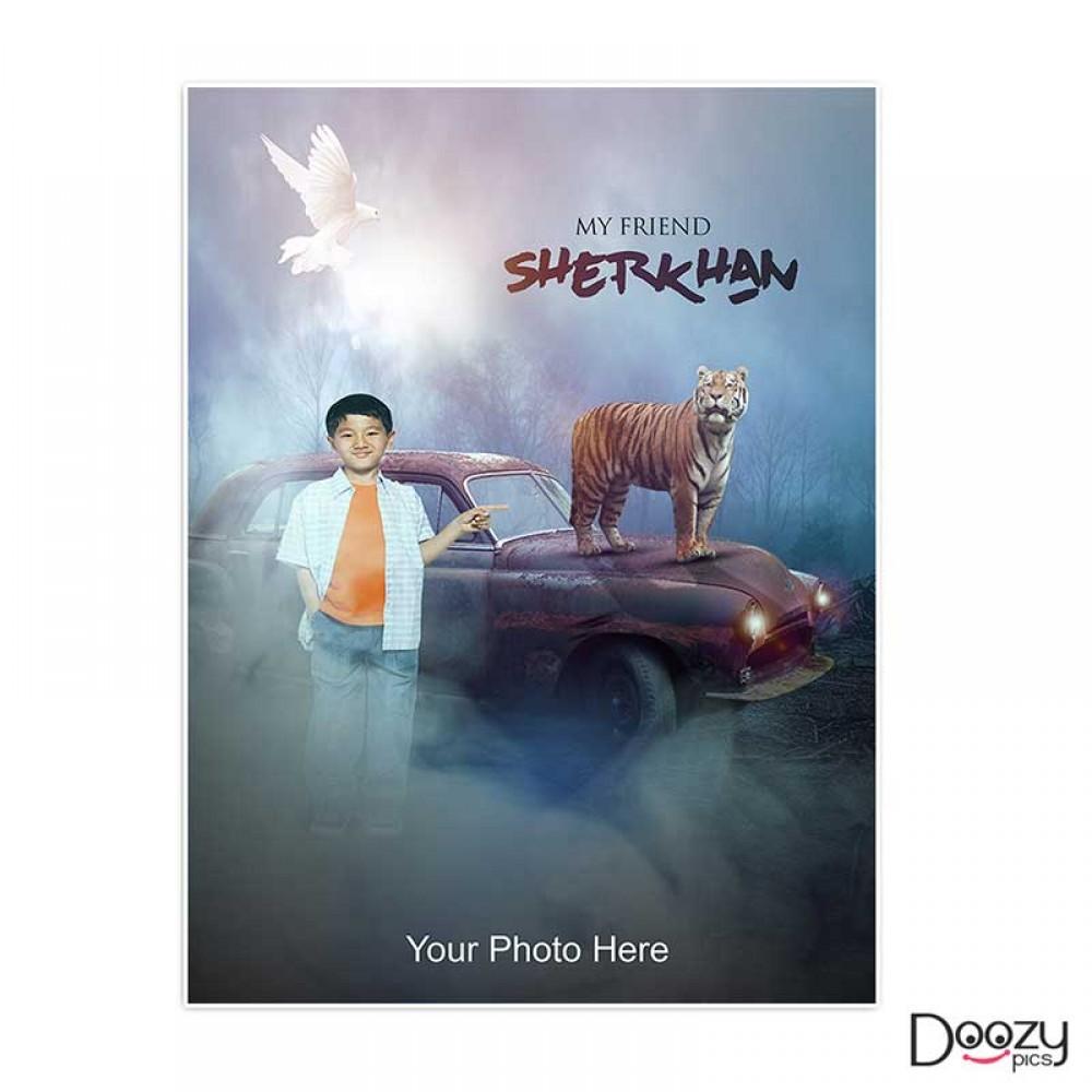 My Friend Sherkhan Print Poster
