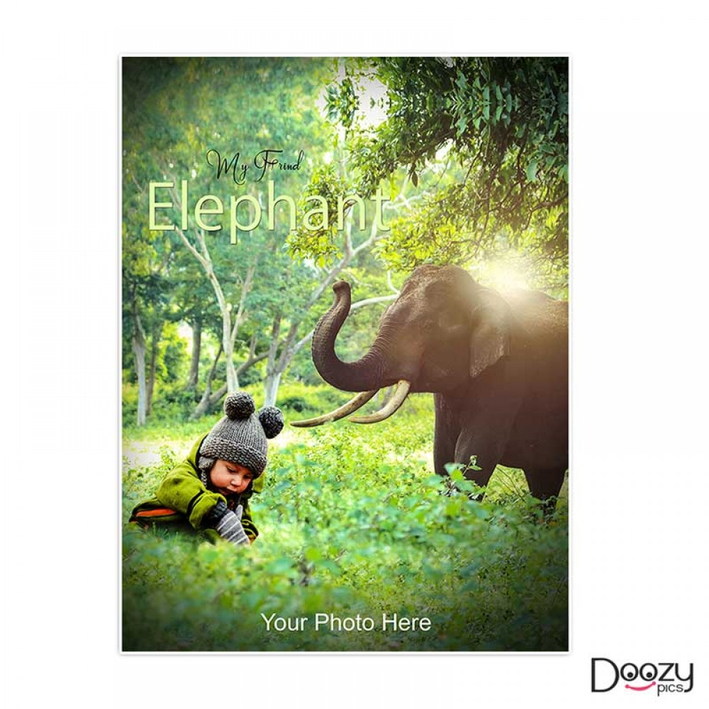 My Friend Elephant Print Poster