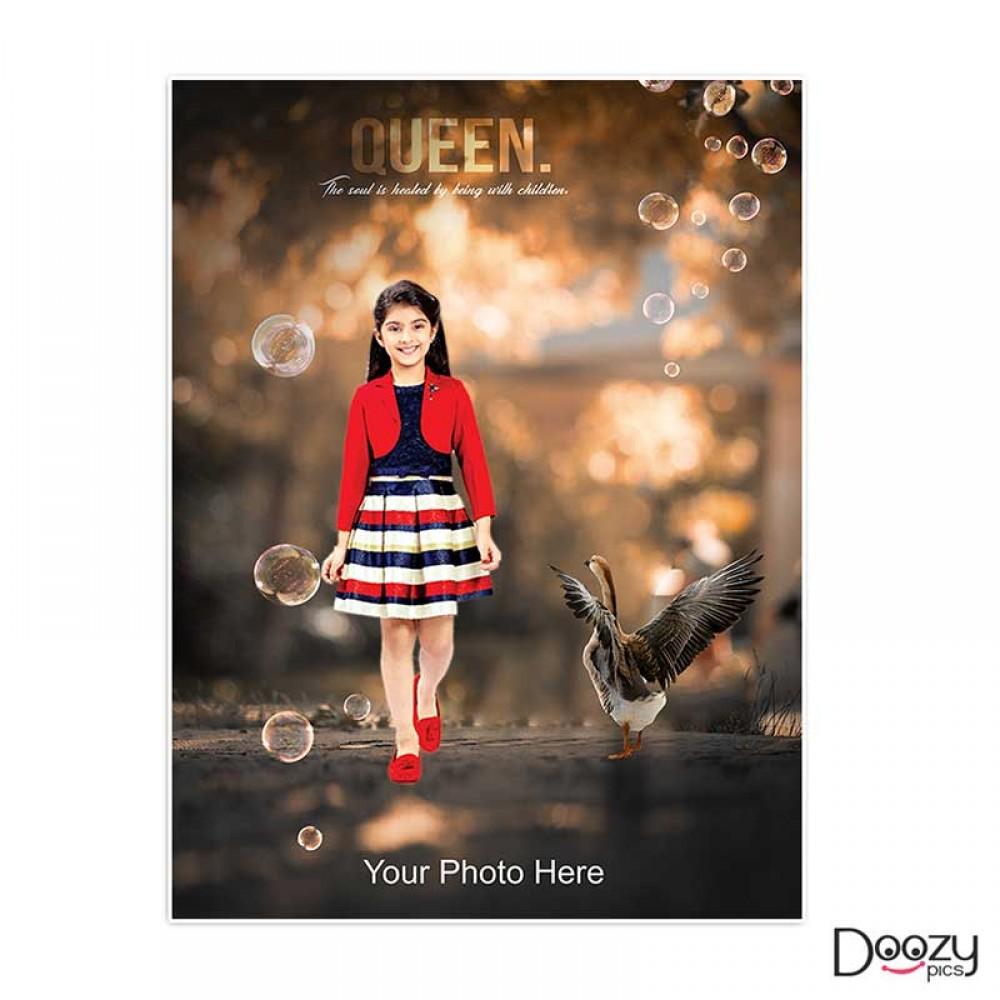 Queen Kid Print Poster