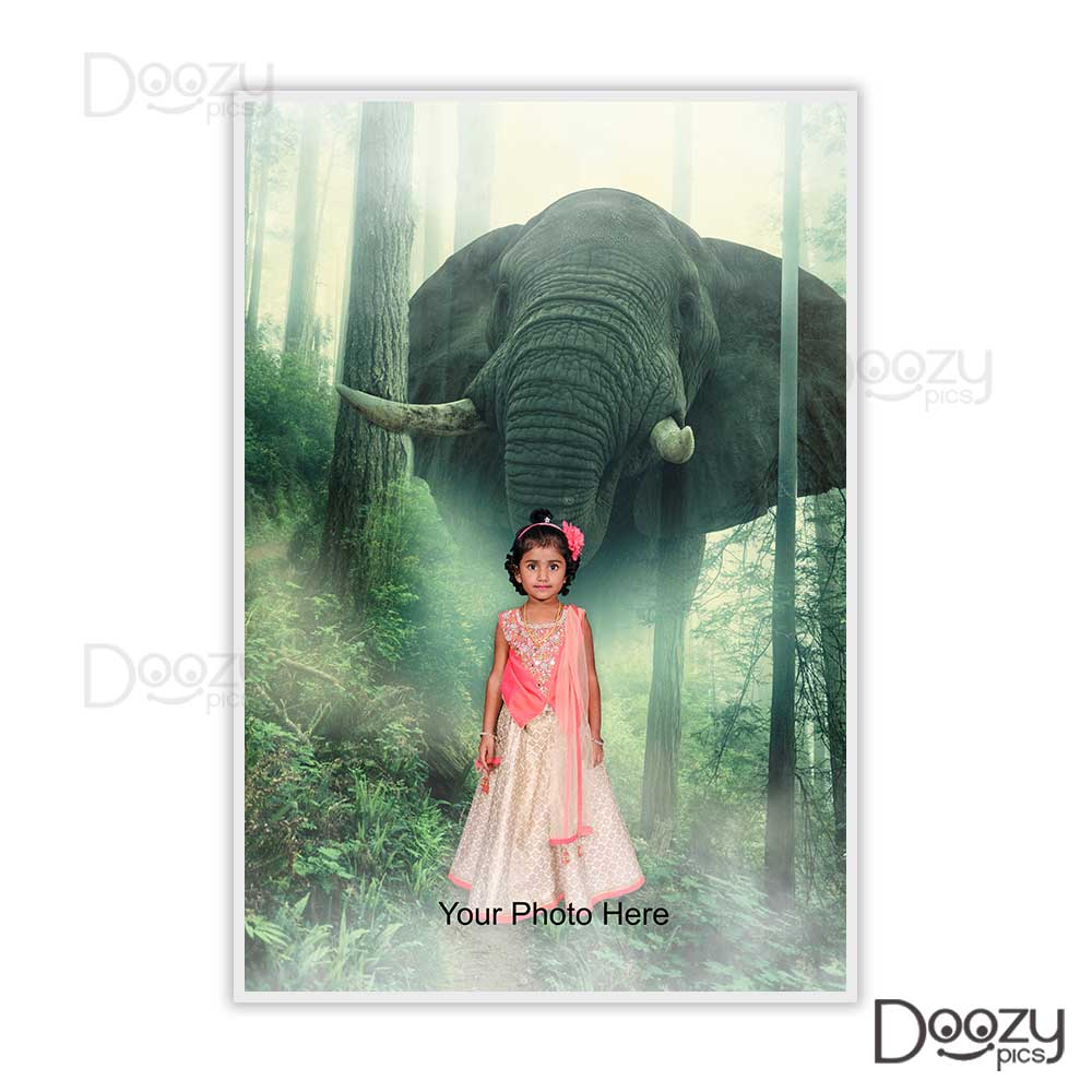 Elephant and Baby Print Poster