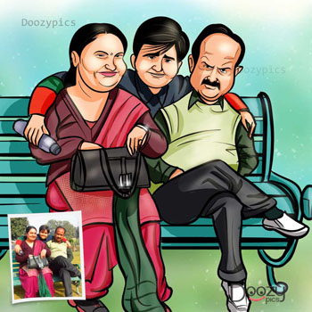 Family Caricature Art
