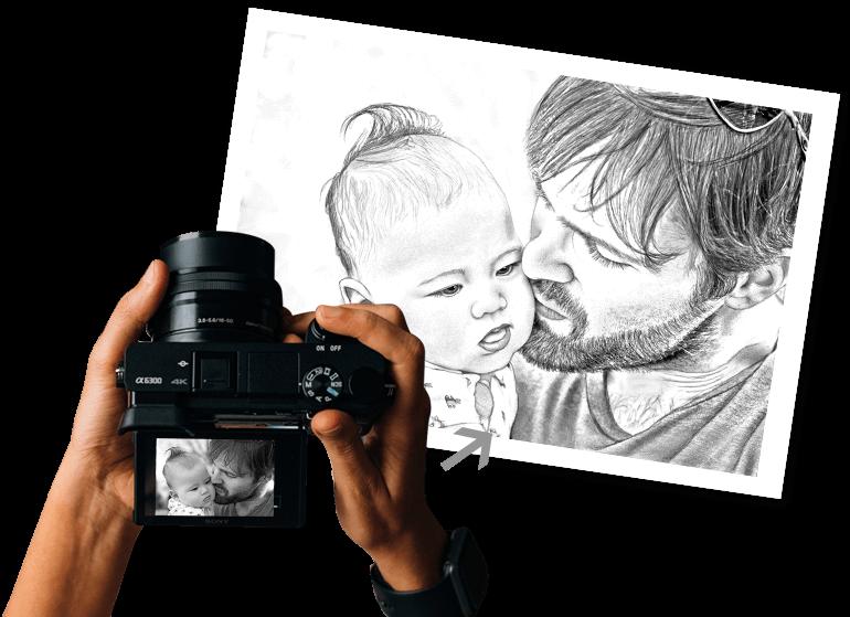 Personalised Pencil Art From Your Photos Doozypics Doozypics